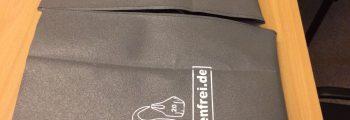 Eine Tasche aus Plastiktüten